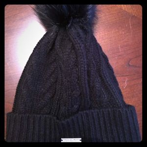 Michael Michael Kord cableknit beanie with Pom